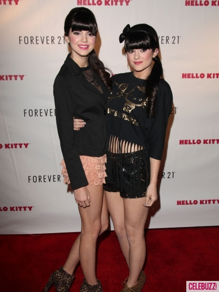 Kendall And Kylie Jenner At Hello Kitty Collection Event